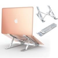 Babacom Support Ordinateur Portable Laptop Stand, Support PC Portable Ventilé en Aluminium Réglable Ergonomique Léger pour MacBook Air Pro, Dell, Lenovo, HP, Autres Laptops Tablette iPad jusqu'à 15,6''