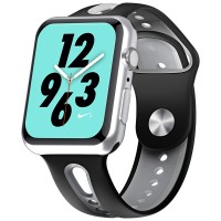 Babacom Bracelet pour iWatch 38mm Serie 1/2/3/4 (40mm), Bande de Remplacement Silicone Respirant avec Metal Fermoir pour iWatch Serie 1/2/3/4, Sport, Edition, Nike+, Hermes 38mm 40mm