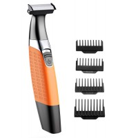 Babacom Beard Trimmer, Wet and Dry Men's Electric Razor, USB Rechargeable Body Hair Remover for Women, Hybrid Precision Trimmer and Edger with 4 Guide Combs and Cleansing Brush