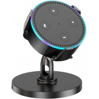 Babacom Table Holder for Echo Dot 2nd Generation, 360° Adjustable Desktop Stand Mount Bracket Cradle for Home Voice Assistant, Clever Dot Accessories Improve Communication with Your Dot