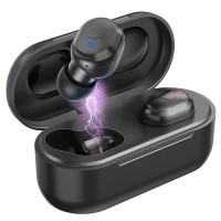 Babacom Écouteur Bluetooth, Dual True Casque Sans Fil HiFi Stéréo, Mini Écouteurs Bluetooth Intra-Auriculaires Sport (Autonomie Max 15 Heures, Réduction du Bruit, Boîte de Charge Portable)