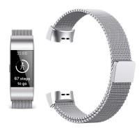 """Babacom Bracelet Fitbit Charge 3, Bande en Maille Milanaise d'Acier Inoxydable pour Fitbit Charge 3 Suivi d'Activité Forme et Sport pour Femme Homme 6.1""""-9.9"""" (L, Argenté)"""