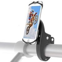 "Soporte Móvil Bici, Babacom Soporte Teléfono Universal Manillar de Silicona Anti Vibración para Bicicleta Motocicleta, Ideal para iPhone X/8/7/6, Samsung Galaxy y Otro 4.7""-6.3"" Smartphones (Negro)"